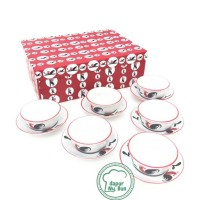 Paket EKSKLUSIF Box Mini Rooster/Ayam Jago Seri 2/Mangkok+Piring Mini