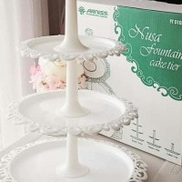 White Cake Tier / 3 Tier Fountain Cupcake Cake Stand Arniss - Putih