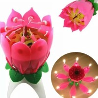 lilin ulang tahun bunga lotus ajaib/candle magic birthday ada musik