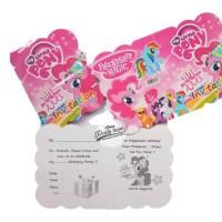 Kartu Undangan Ulang Tahun litle pony / Pesta Ultah Invitation / ultah
