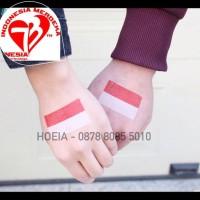 Tato Bendera Indonesia - Tattoo Temporer Flag - Indo - Indonesian