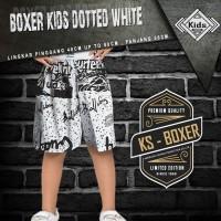 CELANA PANTAI ANAK CELANA ANAK BOXER DOTTED WHITE - KS
