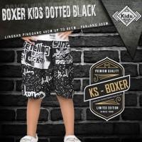 CELANA PANTAI ANAK CELANA ANAK BOXER DOTTED BLACK - KS