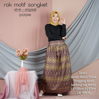 ROK ETNIK MOTIF SONGKET PURPLE BEST KS
