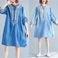 DAMAI FASHION - dress wanita BALQIS - konveksi baju mura