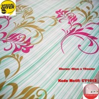 Wallpaper Dinding Motif 45cm x 10m - Wallpaper Dinding CY1012