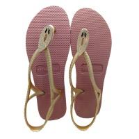 Sandal Wanita Frenchie SNAKE CRYSTAL / ROSE GOLD SSC01