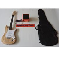 Gitar Fender Stratocaster Paketan Ampli,Kabel & Tas Guitar (Natural1)