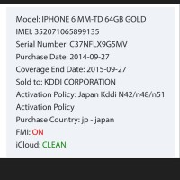 IPHONE ICLOUD STATUS CHECK CLEAN-LOST-ERASED suku cadang