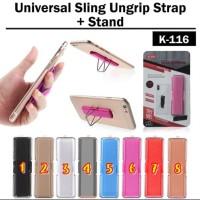Finger Grip Elastic Band Strap Universal Phone Holder Ring Stand K-