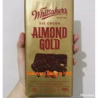Whittaker's Almond Gold Chocolate Bar Coklat Import