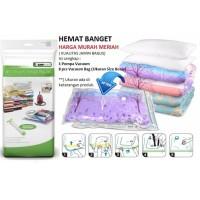 Reseller Vacuum Bag Untuk Pakaian Baju Storage Bag Valve Plus pompa