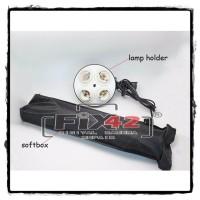 Softbox Reflektor 50x70cm E27 Soket Buat 4 Lampu TERANG.