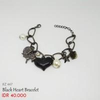 Gelang Wanita - Black Heart Bracelets