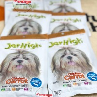 jerhigh carrot 70gr dog Superior Class treats snack anjing