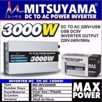 Power Inverter DC to AC 3000 Watt Inverter Mitsuyama 3000W MS-INV3000