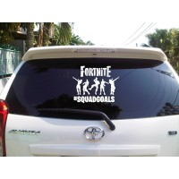 Sticker Decal Mobil Cutting Vinyl Reflektif Fortnite Goals Putih