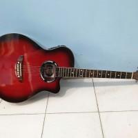 gitar akustik elektrik yamaha apx500 sunburst merah murah jakarta