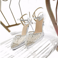 Simply Silver Party shoes 9cm platform 2cm
