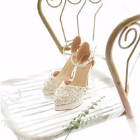 Baby Pink Weddings shoes 13cm