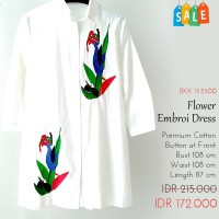 Dress Flower Embordrey Collar