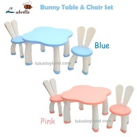 Meja Kursi Labeille Bunny Table & Chair SET Kursi Meja Belajar Anak