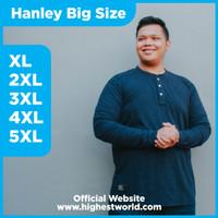 KAOS LENGAN PANJANG HANLEY KATUN BIGSIZE JUMBO WARNA NAVY XL-5XL