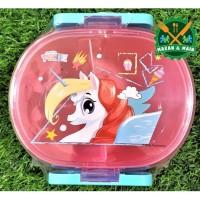 SQ 205 TSCP Cutie Ponie Kotak Makan Lunch Box Technoplast Value Pack
