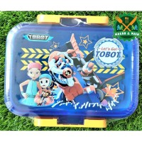 SQ104 TBOT Tobot Kotak Makan Lunch Box Technoplast Value Pack BPA Free