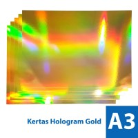Kertas Hologram Emas 300 gsm A3/A3+ - Paper Gold