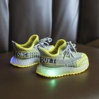 Sepatu Led Anak Perempuan Laki YPL1 21-25 Import - 22, Hitam