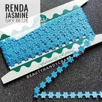 Renda jasmine melati ROL SKY BLUE