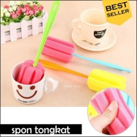 tongkat spon pembersih botol / gelas - cleaner sponge / spons
