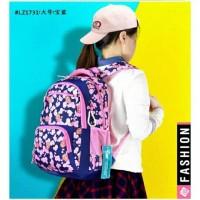Tas ransel wanita tas sekolah Longzhou - pink