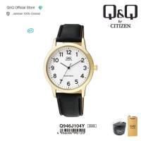 Q&Q QnQ QQ Original Jam Tangan Casual Analog Leather - Q946 Q946J