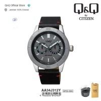 Q&Q QnQ QQ Original Jam Tangan Pria Analog Leather - AA34 AA34J