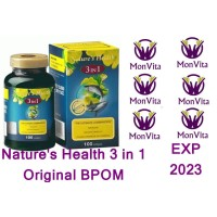 Nature's Health 3in1 3 in 1 Squalene Salmon Omega 3 E.P.O BPOM Natures