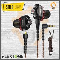 Plextone DX6 Gaming Earphone With Mic 3 Hybrid Driver - Merah