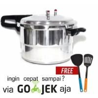 Home-Klik Panci Presto Trisonic Preasure Cooker 8 L Free Spatula
