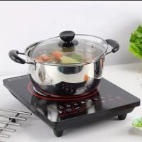 Soup pot panci sup sop 22cm 24cm stainless steel tutup kaca
