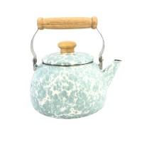Kedaung Teko Teh Motif Rome Tea Kettle Swirl Sea Glass