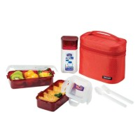 Lock Lock Lunch Box Set With Water Bottle