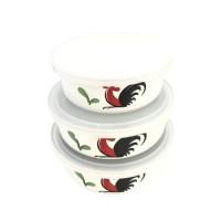 Kedaung Mangkuk Set Tutup Mixing Bowl Set 14 16 18 cm Kukuruyuk With P