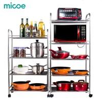 Micoe Microwave Rak Stainless Steel Rak Dapur Rak Penyimpanan Perlengk
