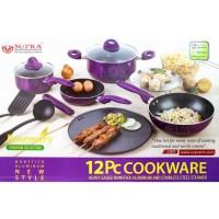 NA SUPRA Rosemary Cookware Set 12 Pcs Panci Set Supra Teflon 12 Pcs