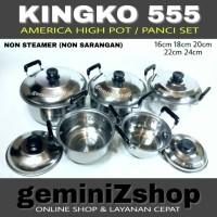 KINGKO 555 Panci Set isi 5set NON STEAMER