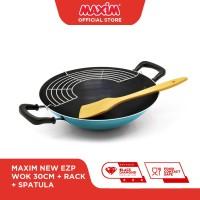 Maxim New EZP Wajan Teflon 30cm Wok Tempura Rack Wooden Spatula
