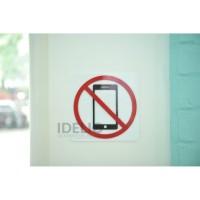 Sign Please Turn Off Phone Akrilik / Tanda Matikan Hp Akrilik