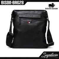 Tas Selempang Pria Kulit Asli Bison Denim Shoulder Bag (BISON-BAG28)