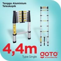 Tangga Lipat Aluminium Teleskopik 4.4M Single Telescopic Ladder 4.4 M